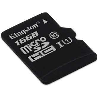 Kingston 16GB Class 10 UHS-I microSDHC memóriakártya Single Pack