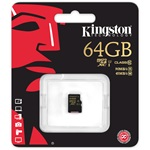 Kingston 64GB Class 10;UHS-I microSDXC memóriakártya Single Pack