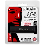 Kingston 8GB DT4000 G2 Secure Hardware Encryption vízálló ütésálló USB3.0 pendrive fekete