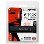 Kingston 64GB DT4000 G2 Secure Hardware Encryption vízálló ütésálló USB3.0 pendrive fekete