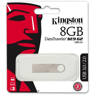 Kingston 8GB DataTraveler SE9 G2 USB3.0 pendrive ezüst