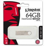 Kingston 64GB DataTraveler SE9 G2 USB 3.0 pendrive ezüst