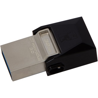 Kingston 32GB Data Traveler MicroDuo USB 3.0 + Micro USB (OTG) pendrive fekete
