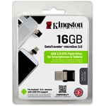 Kingston 16GB Data Traveler MicroDuo USB 3.0 + Micro USB (OTG) pendrive fekete