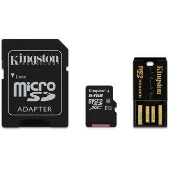 Kingston 64GB Generation 2 Multi-kit Class 10 microSDXC memóriakártya