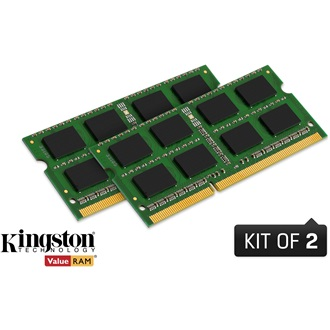 Kingston 16GB 1600MHz DDR3 - SODIMM memória Non-ECC Low-Voltage Kit of 2