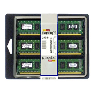 Kingston 6GB 1333MHz DDR3 memória ECC CL9 Kit of 3 SR X8 w/TS