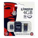 Kingston 4GB microSDHC Generation 2 Multi-kit Class 4 memóriakártya