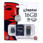Kingston 16GB microSDHC Generation 2 Multi-kit Class 4 memóriakártya