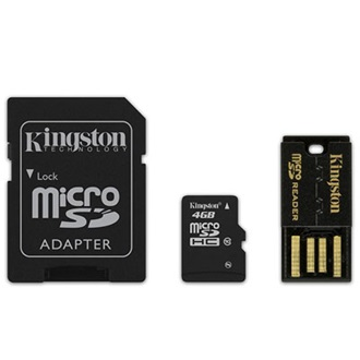 Kingston 4GB Generation 2 Multi-kit Class 10 microSDHC memóriakártya