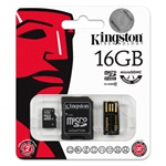 Kingston 16GB Generation 2 Multi-kit Class 10 microSDHC memóriakártya