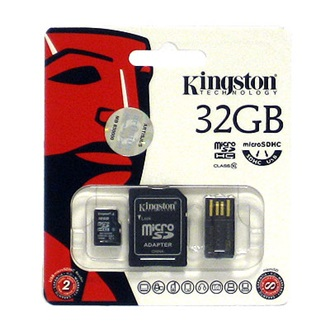 Kingston 32GB Generation 2 Multi-kit Class 10 microSDHC memóriakártya