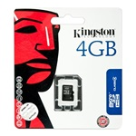 Kingston 4GB Class 4 microSDHC memóriakártya Single Pack