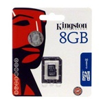 Kingston 8GB Class 4 microSDHC memóriakártya Single Pack
