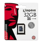 Kingston 32GB Class 4 microSDHC memóriakártya Single Pack