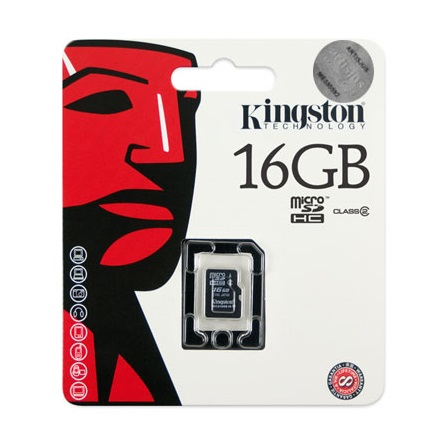 Kingston 16GB Class 4 microSDHC memóriakártya Single Pack