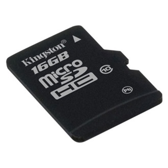 Kingston 16GB Micro Secure Digital (microSDHC Class 10) memória kártya 2 adapterrel
