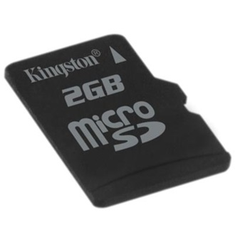 Kingston 2GB Micro Secure Digital (microSD) memória kártya Single Pack