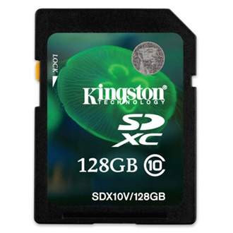 Kingston 128GB  Secure Digital Class 10 UHS-I SDXC memóriakártya