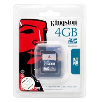 Kingston 4GB SDHC Secure Digital Class 4 memóriakártya