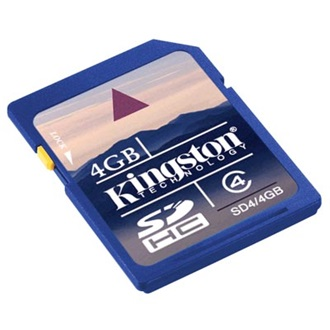 Kingston 4GB Secure Digital (SDHC Class 4) memória kártya (élettartam), Twin Pack
