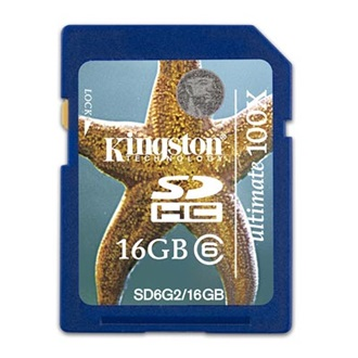 Kingston 16GB Secure Digital Ultimate G2 (SDHC Class 6) memória kártya