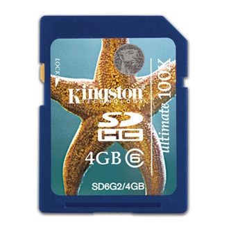 Kingston 4GB Secure Digital Ultimate G2 (SDHC Class 6) memória kártya