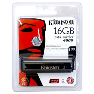 Kingston 16GB Secure Hardware Encryption USB2.0 pendrive fekete