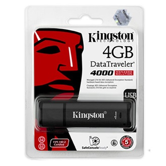 Kingston 4GB USB2.0 Secure Hardware Encryption Managed pendrive