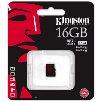 Kingston 16GB UHS-I U3 microSDXC memóriakártya Single Pack