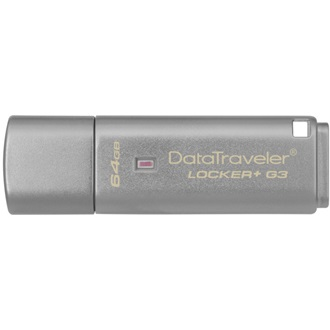 Kingston 64GB DataTraveler Locker+ G3 w/Automatic Data Security USB3.0 pendrive ezüst