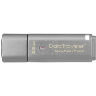 Kingston 32GB DataTraveler Locker+ G3 w/Automatic Data Security USB3.0 pendrive ezüst