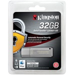 Kingston 32GB DataTraveler Locker+ G3 w/Automatic Data Security USB 3.0 pendrive ezüst
