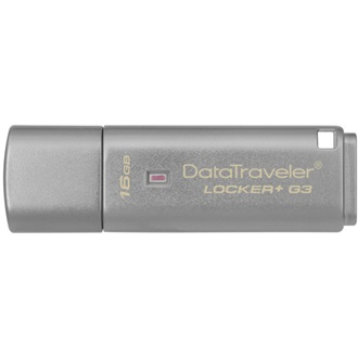 Kingston 16GB DataTraveler Locker+ G3 w/Automatic Data Security USB 3.0 pendrive ezüst