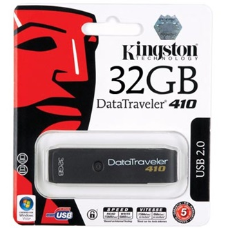 Kingston 32GB USB DataTraveler 410, 20 MB/sec read 8 MB/sec write