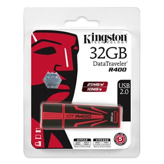 Kingston 32GB USB 2.0 DataTraveler R400, 25MB/s read, 10MB/s write