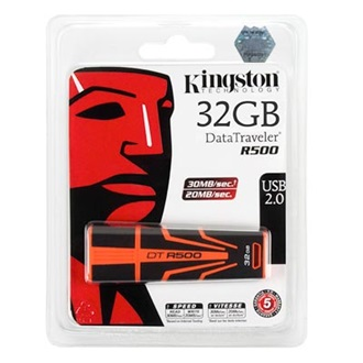 Kingston 32GB USB 2.0 DataTraveler R500, 30MB/s read, 20MB/s write