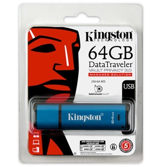 Kingston 64GB DataTraveler Vault Privacy (Management Ready) vízálló USB3.0 pendrive
