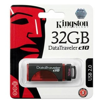 Kingston 32GB USB 2.0 Data Traveler C10 Memory Pen, vörös