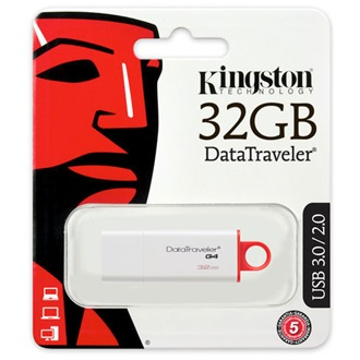 Kingston 32GB Data Traveler Generation 4 USB3.0 pendrive piros