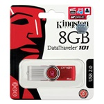 Kingston 8GB Data Traveler 101 Generation 2  USB 2.0 pendrive piros