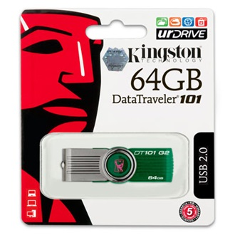 Kingston 64GB Data Traveler 101 Generation 2  USB2.0 pendrive zöld