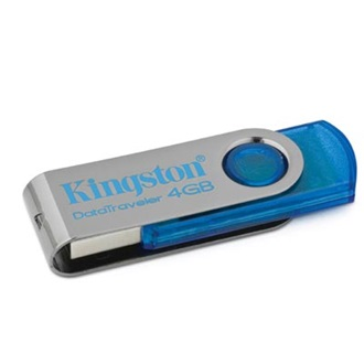 Kingston 4GB USB 2.0 Data Traveler 101 Memory Pen, cián kék