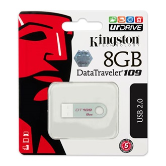 Kingston 8GB USB 2.0 Data Traveler 109 Memory Pen, ezüst