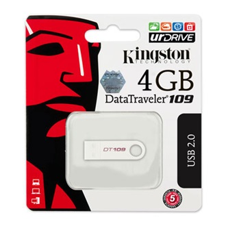Kingston 4GB USB 2.0 Data Traveler 109 Memory Pen, fehér