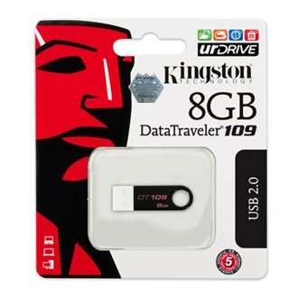 Kingston 8GB USB 2.0 Data Traveler 109 Memory Pen, fekete