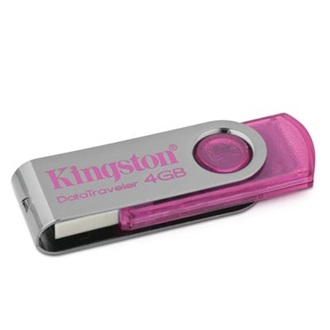 Kingston 4GB USB 2.0 Data Traveler 101 Memory Pen,  pink