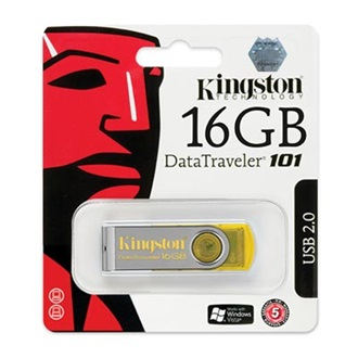 Kingston 16GB USB 2.0 Data Traveler 101 Memory Pen, sárga