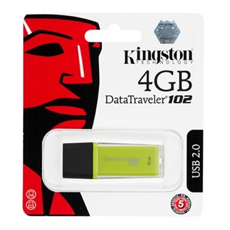 Kingston 4GB USB 2.0 Data Traveler 102 Memory Pen, zöld
