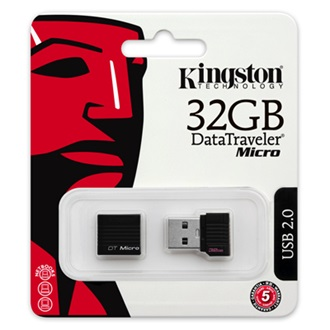 Kingston 32GB Data Traveler Micro USB 2.0 pendrive fekete